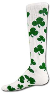 WHITE/GREEN SHAMROCK