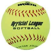 "Worth 12"" Official League Dura-Hyde Softballs"