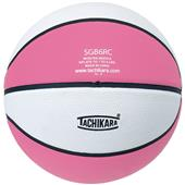 Tachikara Intermed. Pink/White Rubber Basketball