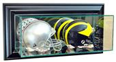 "Perfect ""Double Mini Football Helmet"" Wall Display"