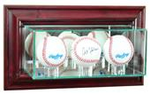 "Perfect Cases ""Triple Baseball"" Wall Display Cases"