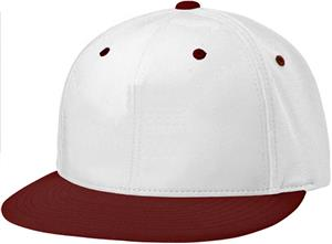 (COMBO) WHITE CROWN / MAROON VISOR