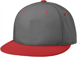 (COMBO) CHARCOAL CROWN / RED VISOR