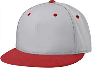 (COMBO) GREY CROWN / RED VISOR