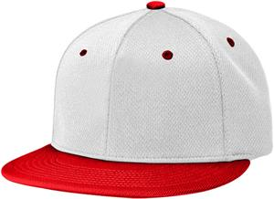 (COMBO) WHITE CROWN/RED VISOR
