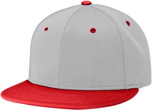 (COMBO) GREY CROWN/RED VISOR