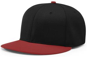(COMBO) BLACK CROWN/CARDINAL VISOR