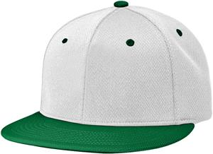 (COMBO) WHITE CROWN/DARK GREEN VISOR