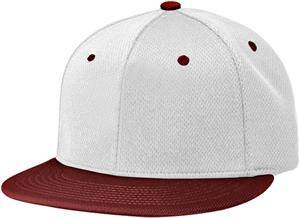 (COMBO) WHITE CROWN/MAROON VISOR