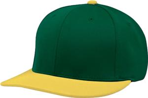 (COMBO) DARK GREEN CROWN/GOLD VISOR