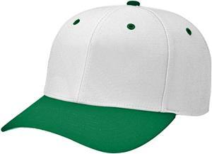 (COMBO) WHITE CROWN/DK GREEN VISOR