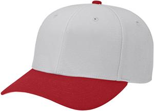 (COMBO) GREY CROWN/CARDINAL VISOR