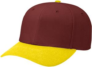 (COMBO) MAROON CROWN/GOLD VISOR