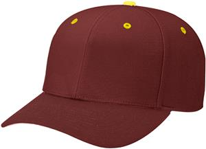 (CONTRAST) MAROON CROWN/GOLD BUTTON/EYELETS