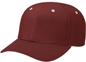 (CONTRAST) MAROON CROWN/WHITE BUTTON/EYELETS