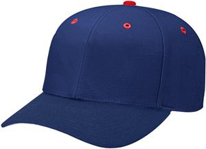 (CONTRAST) NAVY CROWN/RED BUTTON/EYELETS