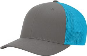 (STAND.) CHARCOAL CROWN & VISOR/NEON BLUE BACK