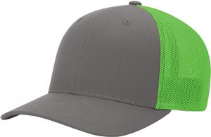 (STAND.) CHARCOAL CROWN & VISOR/NEON GREEN BACK