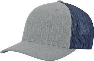 (STAND.) HEATHER GREY CROWN & VISOR/NAVY BACK