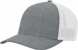 (STAND.) HEATHER GREY CROWN & VISOR/WHITE BACK