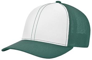 (ALTERN.) WHITE FRONT PANEL/DK GREEN VISOR & SIDE