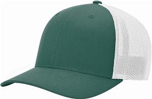 (STAND.) DK GREEN CROWN & VISOR/WHITE BACK