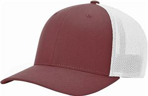 (STAND.) MAROON CROWN & VISOR/WHITE BACK