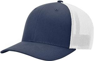 (STAND.) NAVY CROWN & VISOR/WHITE BACK