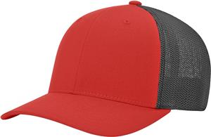 (STAND.) RED CROWN & VISOR/BLACK BACK