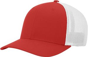 (STAND.) RED CROWN & VISOR/WHITE BACK
