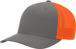 (STAND.) CHARCOAL CROWN & VISOR/NEON ORANGE BACK