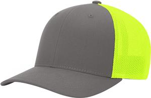 (STAND.) CHARCOAL CROWN & VISOR/NEON YELLOW BACK