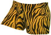 Gem Gear Gold Compression Zebra Prints Shorts
