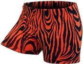 Gem Gear Orange Compression Zebra Prints Shorts