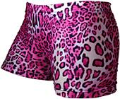 Gem Gear Compression Pink Leopard Print Shorts