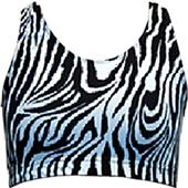 Gem Gear Blk/White Zebra Racer Back Sports Bra