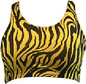Gem Gear Gold Zebra Racer Back Printed Sports Bra