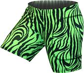 "Gem Gear Green Zebra Softball Slider 5"" Inseam"
