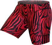 "Gem Gear Red Zebra Softball Slider 5"" Inseam"