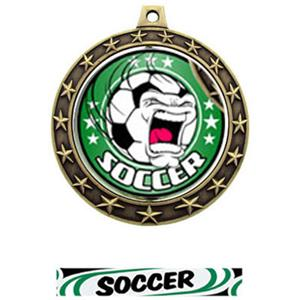 FIERCE INSERT/GOLD MEDAL-DELUXE SOCCER RIBBON