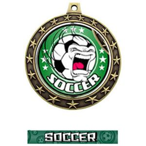 FIERCE INSERT/GOLD MEDAL-GRAPHX  SOCCER RIBBON