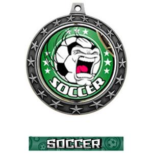 FIERCE INSERT/SILVER MEDAL-GRAPHX  SOCCER RIBBON