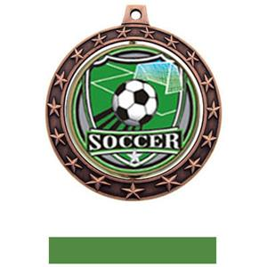 SHIELD INSERT/BRONZE MEDAL-GREEN RIBBON