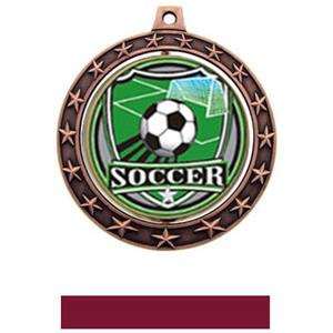 SHIELD INSERT/BRONZE MEDAL-MAROON RIBBON