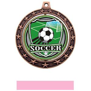 SHIELD INSERT/BRONZE MEDAL-PINK RIBBON