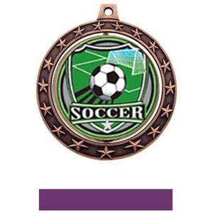 SHIELD INSERT/BRONZE MEDAL-PURPLE RIBBON
