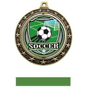 SHIELD INSERT/GOLD MEDAL-GREEN RIBBON