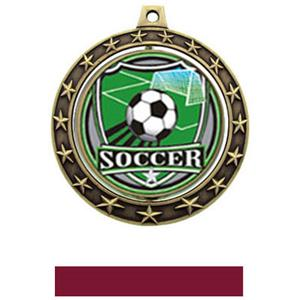 SHIELD INSERT/GOLD MEDAL-MAROON RIBBON