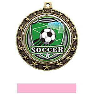 SHIELD INSERT/GOLD MEDAL-PINK RIBBON