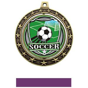 SHIELD INSERT/GOLD MEDAL-PURPLE RIBBON